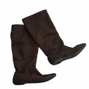 American Eagle Faux Suede Tall Boots 7.5